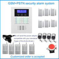 Wholesale Home Security Systems Kits - Customized Security alarm system kit language in English,French,Russian,Italian,Smart home safety wireless PSTN GSM alarm system