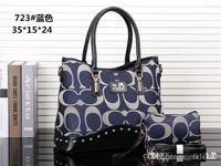 deri tasarımcısı markaları toptan satış-2018 stilleri Çanta Ünlü Tasarımcı Marka Adı Moda Deri Çanta Kadın Bez Omuz Çantaları Lady Deri Çanta Çanta purse723
