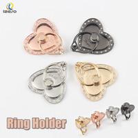 fantastische diamantringe großhandel-Universal-Metall-Bling-Ring-Halter für iPhone Fancy Erweiterung Diamond Heart Finger Grip Holder Stand für Smartphones