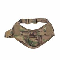 Wholesale new tactical vest for sale - One piece Tactical Dog Training Vest collars Nylon Adjustable Patrol Dog Harness Service Dog Vest on Sides