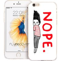 caso do iphone dos desenhos animados de silicone venda por atacado-Nope art claro macio tpu silicone tampa do telefone para o iphone x 7 8 mais 5s 5 se 6 6 s plus 5c 4s 4 ipod touch 6 5 casos.