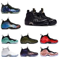 Wholesale foams penny shoes for sale - Group buy 2018 Sequoia Black Metallic Gold Penny Hardaway Men Basketball Shoes foam one Alternate Galaxy OG Royal Olympic Sports Sneakers