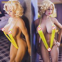 mannequin sex puppe metall skelett großhandel-YRMCOLOT 168cm Big Ass mit Big Breast Sex Doll Voll TPE Metallskelett Erwachsene Liebespuppe Big Buttocks Sexy Sex Robots Kein Geruch