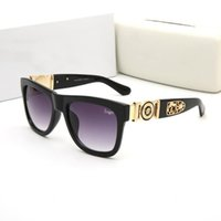 Wholesale high price fashion brands online - Luxury Famous sunglasses brand with logo women man metal frame mirror sun glasses high quality low price driving eyeglasses