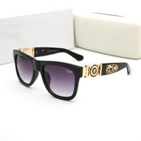 ingrosso prezzi elevati-Luxury Famous sunglasses brand with logo 426 women man metal frame mirror occhiali da sole occhiali da vista di alta qualità a basso prezzo