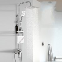 Wholesale floor accessories online - Total Copper Shower Faucet Set Shower Mixing Valve Stainless Steel Pressure Boost Nozzle Flower Sprinkler Accessory hc gg
