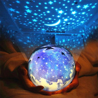 Wholesale magic star light - LED Starry Sky Projector Lamp Flashing Universe Star Planet Magic Night Light USB 3AA Battery Powered Glowing Toy 26 73ds YY