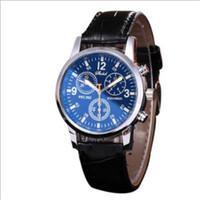 Wholesale geneva double watch - Commercial double-sided belt fashion quartz watch Geneva three-eye, six-needle quartz men's watch