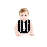 ingrosso gentleman del bimbo del bambino-Bavaglino neonato per neonato per neonato Bavaglino neonato per neonato nero Bianco Papillon per neonato Asciugamano per neonato Asciugamano per bambini Asciugamano per neonato