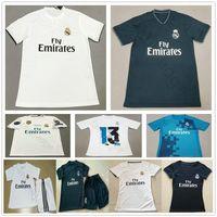 Wholesale ronaldo jersey youth resale online - 2018 Real Madrid Soccer Jerseys MODRIC RONALDO BALE ISCO ASENSIO KROOS VARANE Custom Home Away Adult Men Women Kids Youth Football Shirt