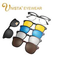 óculos de sol homens venda por atacado-IVSTA 2018 Ímã Óculos De Sol Clipe Clipe Magnético Espelhado em óculos de sol Dos Homens Flip Polarized Miopia Prescrição Personalizada Óptica 2202 CE FDA