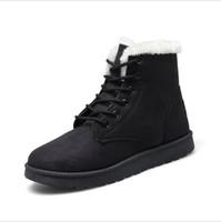 Wholesale Export Shoes - Export Russia Woman Winter Ankle Snow Boots Classic Warm Plush Fur Suede Insole High Quality Lace Up Shoes Female Botas Plus Size 35-40