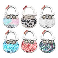 bolsos de mano plegables al por mayor-Owl Handbag Hook Bag Holder Girls Woman Baghook Portátil plegable Pequeño monedero ganchos perchas Hanger Creativity 8yxa bb
