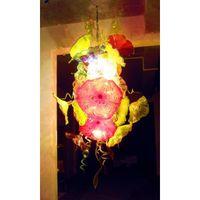 plafones lámparas al por mayor-Chihuly lámpara de techo de cristal de Murano lámpara de techo pequeña placa barata para Museo Iglesia Bar Coffee House Decor