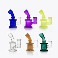 Wholesale pyrex glass water pipes - Bong New Design Bongs mini Glass Water Pipes Bongs Pyrex Water Bongs with 14mm Joint Beaker Bong dab rig Water Pipes Oil Rigs