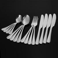ingrosso stoviglie utilizzati-Eco-friendly 16 pezzi stoviglie occidentali di alta gamma 4 set in acciaio inossidabile di buona qualità coltello da forchetta utensili da dessert cucina uso domestico offerte strumenti