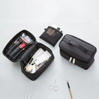 ingrosso costruire borsa-Elegante scatola cosmetica portatile ad alta capacità con borsa da lavaggio e lavaggio multifunzionale da viaggio per uomo e donna.