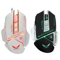Wholesale mice definition - Colorful Cool Mouse X400 3200DPI 7 Keys Macro Definition LED Light Optical USB Wired Gaming Mouse