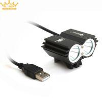 Wholesale cree t6 led headlight - Solar Storm 5000LM X2 CREE XM-L T6 USB Waterproof LED Bicycle Headlight