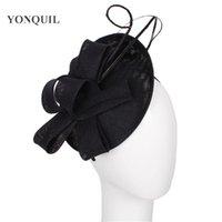 base de las vendas al por mayor-Negro o más color atractivo fascinador avestruz quill base sombrero boda accesorios para el cabello diadema sombreros para el partido de la quimioterapia tocado de novia