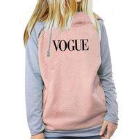 vogue pullover groihandel-2018 neue Mode VOGUE Print Tops Sweatshirts Hoodies Frauen Zipper Pullover Weibliche Jugend Mädchen Frauen Herbst Komfortable