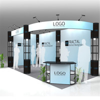 Wholesale Standard ft ft Exhibition Booth Trade Fair Display Stand Economic Company Trade Show Display Equipment With Wheeled Wood Case E01B1