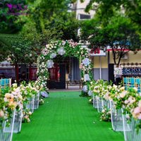ingrosso fiori di piombo stradali-Decorazione di oggetti di scena di nozze nuovo fiore di seta strada di piombo S - tieyi strada di piombo strada corridoio arte del fiore strada piombo sfondo decorazione puntelli