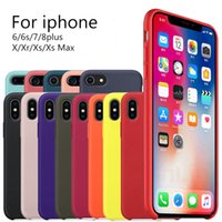 Wholesale Official Silicone Cases For iPhone Plus S Plus With Logo Silicone Cover For iPhone X XR XS Max Business Coque Fundas