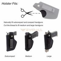 ingrosso articoli da tasca-Tactical Gun Holster Belt Metal Clip IWB OWB Holster Airsoft Gun Bag Caccia articoli per tutte le misure Pistole nascoste Carry fondine