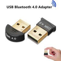 csr usb toptan satış-PC Için Bluetooth Adaptörü Bilgisayar Kablosuz Fare Bluetooth Hoparlör Bilgisayar Için 4.0 Müzik Alıcısı CSR Kablosuz USB Bluetooth Adaptörü