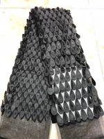 Wholesale organza lace fabric wholesale - High Quality Purple Organza Lace Fabrics Handcut With Sequins Embrodiery Double Organza Lace Fabric For Women Dress