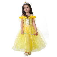 Wholesale baby cosplay for sale - New Baby Girls Dresses Children girl Princess Dresses Wedding Dress Kids Birthday Party Halloween Cosplay Costume Festival Clothing