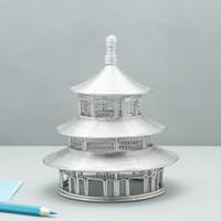 modelo de templo al por mayor-ENVÍO GRATIS J48 CHINA'S TEMPLE OF HEAVEN WIRE MODELO ACERO INOXIDABLE HECHO A MANO ARTESANÍA BODAS CUMPLEAÑOS CASA JARDÍN OFICINA REGALO PRESENTE LINDO