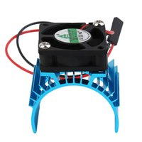 Wholesale electric rc car brushless - 2018 Motor Heatsink And Fan Cooling AluminumDurable Brushless 550 540 3650 Size Sink Cover Electric Engine For RC HSP Model Car
