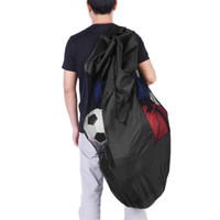 Wholesale volleyball ball online - Portable Basketball Football Balls Bag Volleyball Soccer Sports Balls Mesh Drawstring Storage Bag Training Carrying