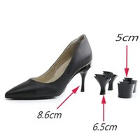 Wholesale lady shoes low heel - 2018 new interchangeable heels ladies shoes 3 different heel height for different occasion black and orange removable heels shoes