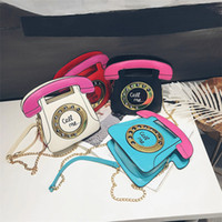 Wholesale new telephones resale online - The new European and American creative wacky single shoulder bag stylish personal telephone messenger bag woman bag A