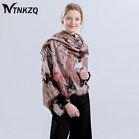 Wholesale Beautiful Women Furs - [NTNKZQ]New Fashion Soft Winter Scarf Women Female Viscose Scarves Butterfly Long Size 180*90cm beautiful echarpe foulard