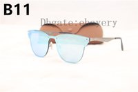 Wholesale flash alloy - 2018 Newest Fashion 3576 Traveller Style Rivets Sunglasses Men Women Brand Design Quality Metal Mirror Flash Sun Glasses With Box,Case