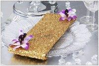 tabela de lantejoulas de ouro venda por atacado-50 PCS 40 cm * 40 cm Ouro Guardanapo De mesa De Lantejoulas / Nice casamento Guardanapos / eventos Do Partido Lenço para Jantar e Banquete / Frete grátis