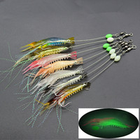 Wholesale fishing lures hooks resale online - 7 color cm g Luminous Shrimp Hook Fishing Hooks Fishhooks Soft Baits Lures Artificial Bait Pesca Fishing Tackle Accessories