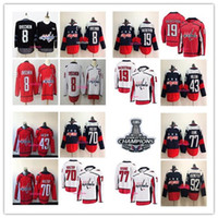Wholesale Cotton Waterproofing - 2018 Stanley Cup Champions 8 Alex Ovechkin 43 Tom Wilson 77 T.J. Oshie 19 Nicklas Backstrom 70 Braden Holtby 92 Kuznetsov Hockey Jersey