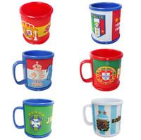 Wholesale Football Handle - Russia World Cup Mugs National Flag Football Cup Water Drinking Coffee Mug Ceramic Tea Milk Cup with Handle OOA4967