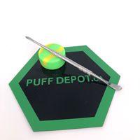 silikon ısı mat toptan satış-Marka yeni Isı direnci yapışmaz silikon pişirme mat kiti anti kayma mat dabber aracı ile balmumu konteynerler dab özel silikon dab mat