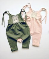 Wholesale cute toddlers onesie resale online - Fashion cute baby romper sunsuit onesie boho playsuit toddler girls boys bodysuit outfits baby clothes outfits top quality