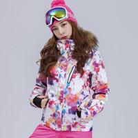 Gsou Snow Brand Women Fur Skiing Jacket Snowboard Jacket Windproof  Waterproof Super Warm Clothing Outdoor Sport Wear Female Coat. 34% Off 2c197731d