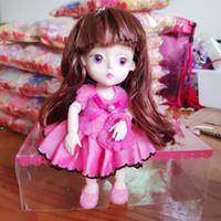 anillos móviles al por mayor-15cm Moveable Joint Princess Doll Dress Design con llavero Kid Girls Toy Gift enviado por Random