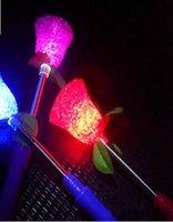 blitzlicht rosen großhandel-Reis beleuchtet particed Frühlingslichtreis STICK Simulationsblitzrosenlicht-Blumenreis 120pcs / lot