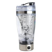 vortex tornado protein bottle al por mayor-Vonkka 450 ml Coctelera automática de proteínas automática Mezclador de movimiento portátil Vortex Tornado BPA Free My Water Bottle C18110601