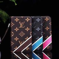 iphone kemer cüzü toptan satış-Yeni telefon cüzdan kemer klipsi moda Lu marka tasarımcı çanta cüzdan kılıfları lüks iphone kılıf için iphone X marka kılıf 6 7 8 artı